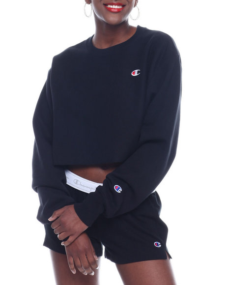 Champion - Rw Cropped Cut Off Crew Left Chest