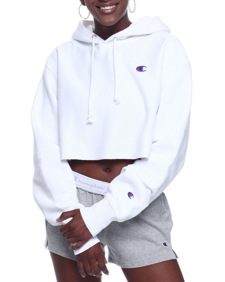 Champion - Rw Cropped Cut Off Hood Left Chest