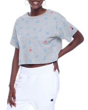 Women - Crop Tee W/Allover Print-2322282