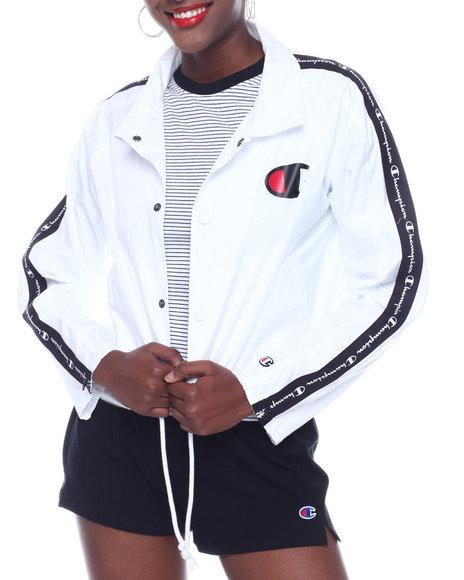 Champion - Zipper Tape Cropped Coaches Jacket