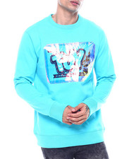 offbeat - TOY SHOP IRIDESCENT LOGO CREWNECK SWEATSHIRT-2324473
