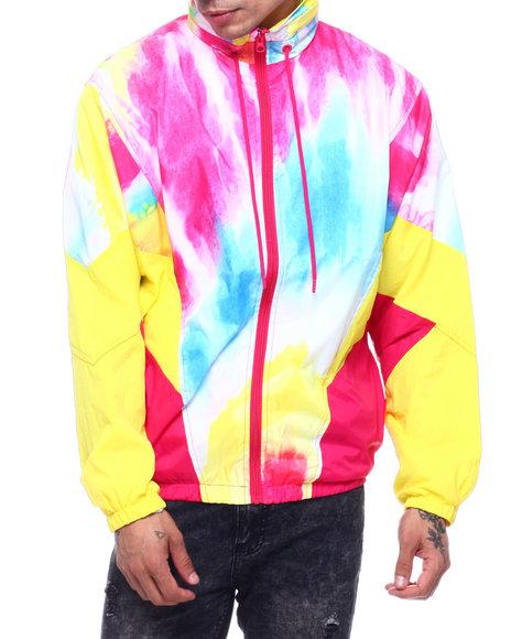 SMOKE RISE - Tie Dyed Nylon Jacket
