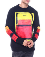 offbeat - SPRAY PRINT CREWNECK SWEATSHIRT-2324539