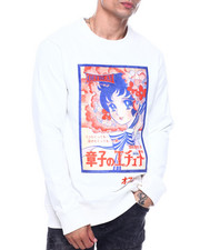 offbeat - MANGA VELOUR PATCH ANIME CREWNECK SWEATSHIRT-2324514