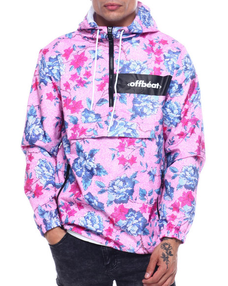 offbeat - FLORAL ALLOVER PRINT ANORAK