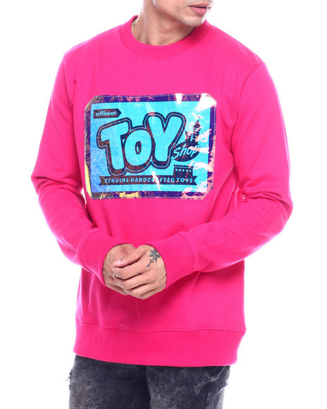 offbeat - TOY SHOP IRIDESCENT LOGO CREWNECK SWEATSHIRT