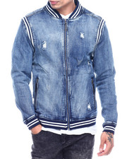 Denim Jackets - Varsity Denim Jacket - Medium Wash-2324825