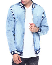 Denim Jackets - Varsity Denim Jacket - Light Wash-2324802