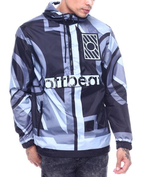 offbeat - Geometric Print Anorak Jacket