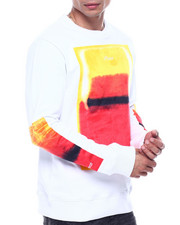 offbeat - SPRAY PRINT CREWNECK SWEATSHIRT-2324553