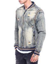 Denim Jackets - Varsity Denim Jacket -Vintage Wash-2324815