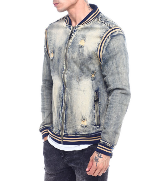 Buyers Picks - Varsity Denim Jacket -Vintage Wash