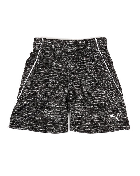 Puma - Heather Printed Performance Shorts (2T-4T)