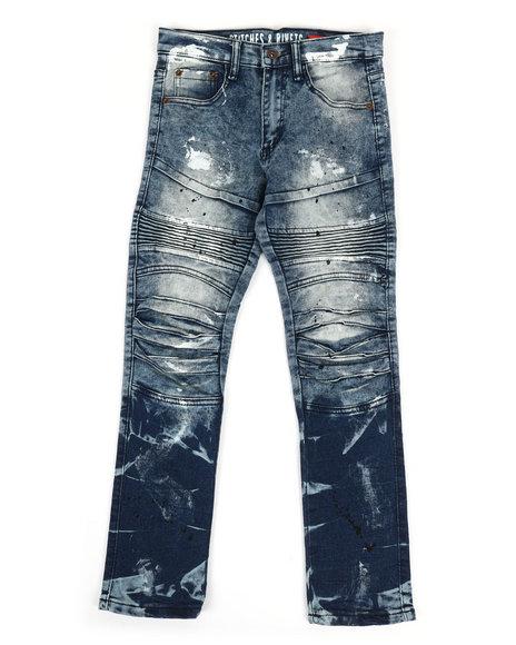 Arcade Styles - Crinkle Moto Jeans W/ Paint Splatter (8-20)