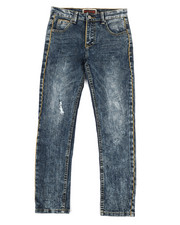 Bottoms - Gold Piping Denim Jeans (8-20)-2323986