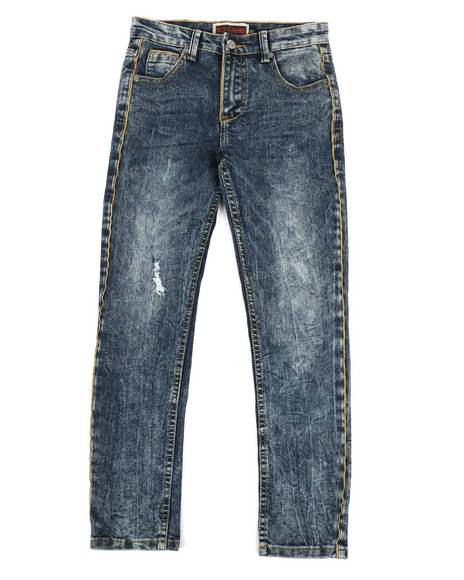 Arcade Styles - Gold Piping Denim Jeans (8-20)