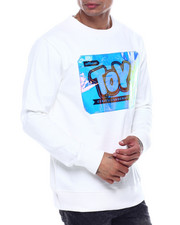 offbeat - TOY SHOP IRIDESCENT LOGO CREWNECK SWEATSHIRT-2324488