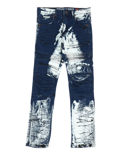 Arcade Styles - Crinkle Moto Jeans (8-20)