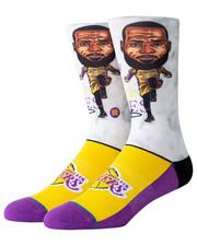 NBA, MLB, NFL Gear - Lebron Big Head Socks-2324252