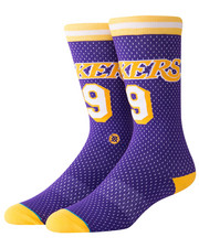 NBA, MLB, NFL Gear - Lakers 94 HWC Socks-2324253