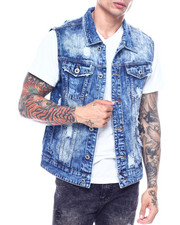 Outerwear - Dark Wash Denim Vest-2324785