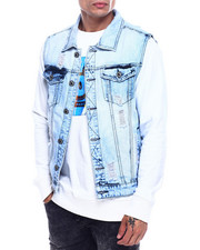 Vests - Bleached Denim Vest-2324761