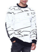 Sweatshirts & Sweaters - GEOMETRIC PRINT CREWNECK SWEATSHIRT-2324576