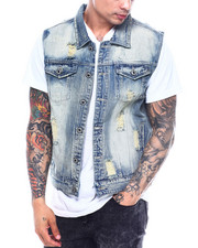 Vests - Vintage Wash Denim Vest-2324774