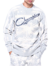 Champion - CUSTOM BLEACH SPLATTER CREW-2324322