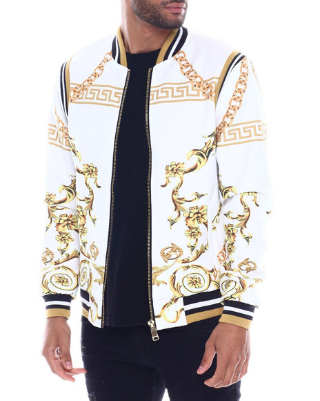 Buyers Picks - Gold Chain and Filigree Warm up Jacket