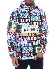 Outerwear - Rebel Ink Marker Windbreaker-2325350