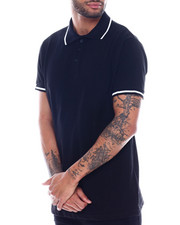 Buyers Picks - Mens Yarn Dye Contrast Stripe Collar And Rib Polo-2325470