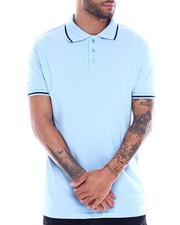 Men - Mens Yarn Dye Contrast Stripe Collar And Rib Polo-2325415