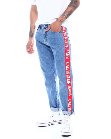 Calvin Klein - CKJ 035 STRAIGHT ICONIC SIDE TAPE LOGO JEAN