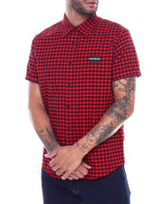 Global Movement Mens - GINGHAM SS WOVEN SHIRT-2323779