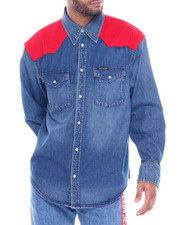 Denim Jackets - WESTERN FOUNDATION SHIRT-2323869