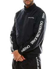Outerwear - INSTITUTIONAL STRIP NYLON LOGO TRACK JACKET-2323847