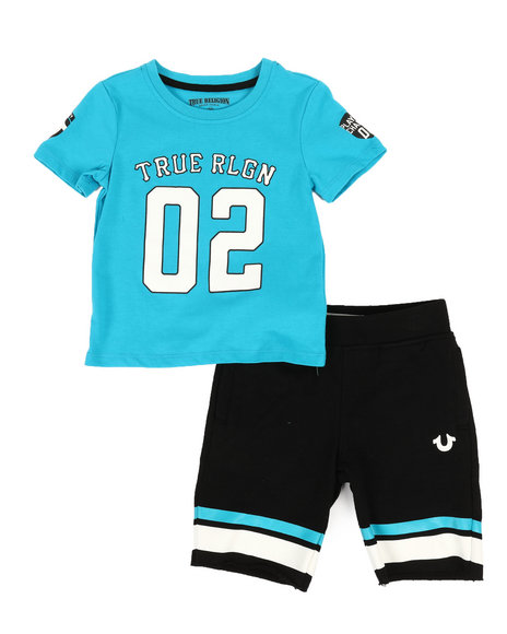 True Religion - 2 Piece Tee & Knit Shorts Set (2T-4T)