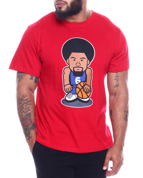 Julius Erving (DR. J) - Dr. J Cotton T-Shirt W/ Screen Printing (B&T)