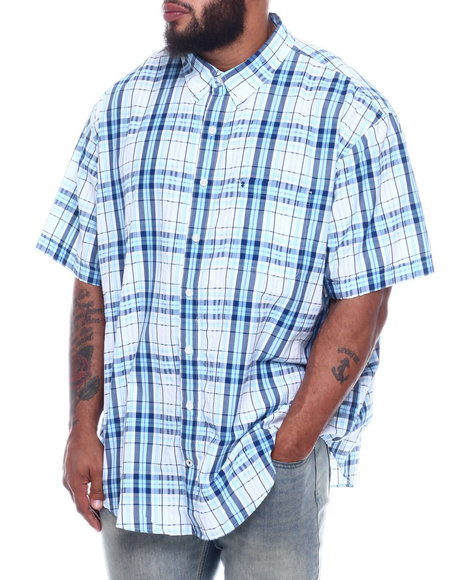 Izod - S/S Button Down Large Plaid (B&T)