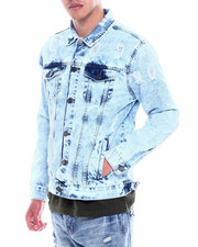 Denim Jackets - Distressed Denim Jacket-2326498