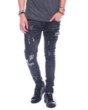 Men - Distressed Jean - Black wash-2324882