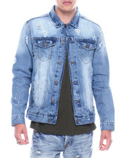 Denim Jackets - Distressed Denim Jacket-2326488