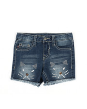 Bottoms - Meow Bling Shorts (4-6X)-2325256