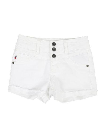 Vigoss Jeans - Tri Button Waist Shorts (7-16)