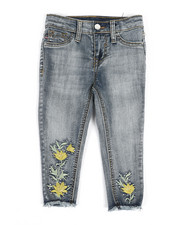 Vigoss Jeans - Floral Bling Ankle Jeans (2T-4T)-2325583