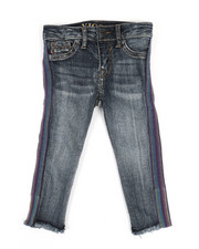 Vigoss Jeans - Multi Colored Side Tape Ankle Jeans (2T-4T)-2325557