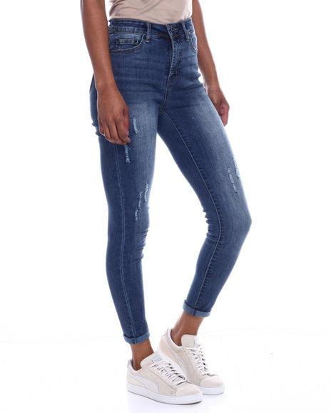 Fashion Lab - No Handles Distressed Skinny Jean