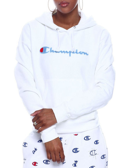 Champion - Rw Chenille Script Pullover Hoodie