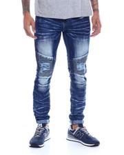 Men - Distressed Knee Moto  Stretch Jean-2327078